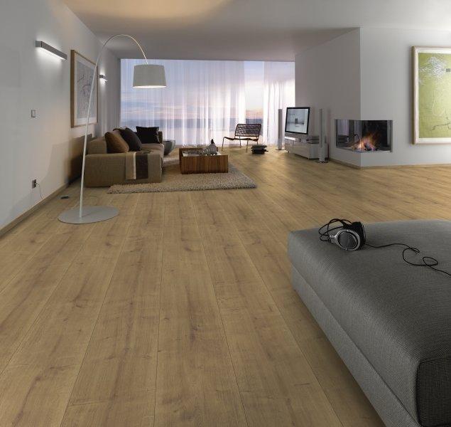 Bekend Laminaat vloer extra breed eiken rustiek 32,7cm nu voor €22,5 XD05